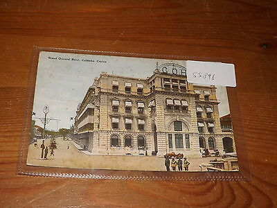 Old CEYLON  postcard our ref #55896 GRAND ORIENTAL HOTEL COLOMBO 1929
