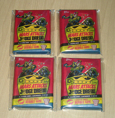 2015 Topps MARS ATTACKS Occupation Kickstarter Judge Dredd 20-card pack lot of 4