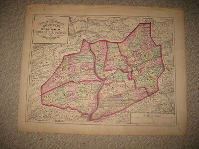 Old Antique Columbia Union Snyder Montour Northumberland County Pennsylvania Map