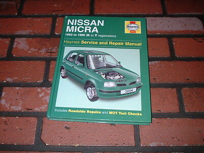 Haynes Manual For Nissan Micra K11. 1993 To 1999. K To T Registration