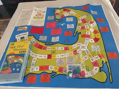 Rare Vintage 1988 The Cape Cod Vacation Game Fiasco Games Map Nice! With Box