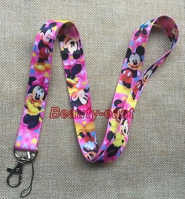 Lot Cartoon Minnie mickey Neck Strap Lanyards Mobile Phone Key Chain  A116