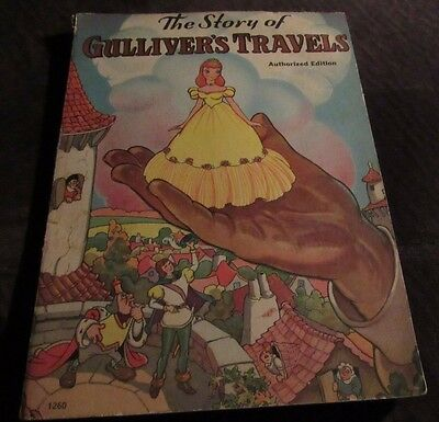 Vintage 1939 The Story Of Gulliver's Travel 64 Page Story Book