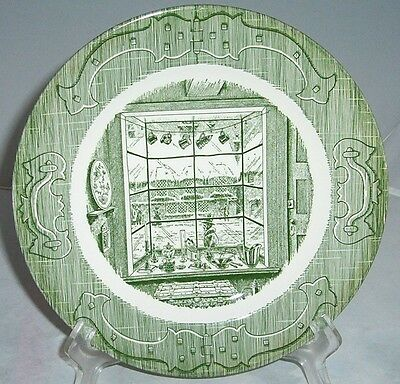Royal China Old Curiosity Shop Round Vegetable Serving Bowls 9 1/8 Green Vintage