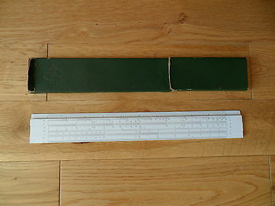 A W Faber Germany 57 / 87 Rietz Slide Rule In Green Faber Castell Box See Below