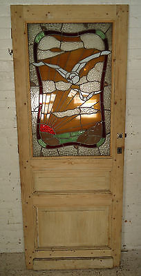 Vintage American Stained Glass Door (1870)NS