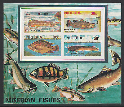 Nigeria (288) 1991 Fish m/sheet IMPERF unmounted mint