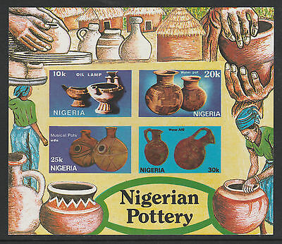 Nigeria (289) 1990 Pottery  m/sheet IMPERF unmounted mint