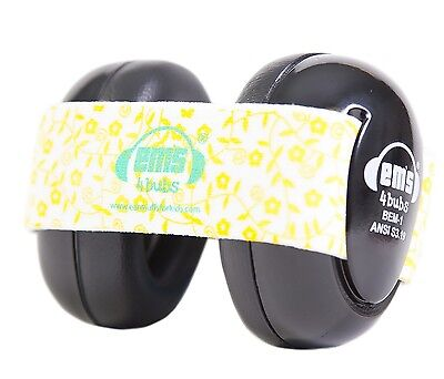 New Em's 4 Bubs Kids Hearing Protection Baby Earmuffs for 0-18 Months ~ Lemon