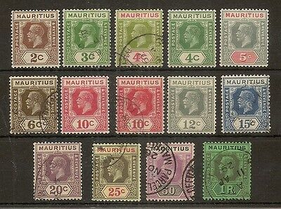 Mauritius 1921-34 Selection Mint/Used Cat£33