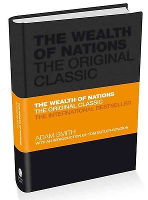 The Wealth of Nations by Adam Smith Hardcover Book