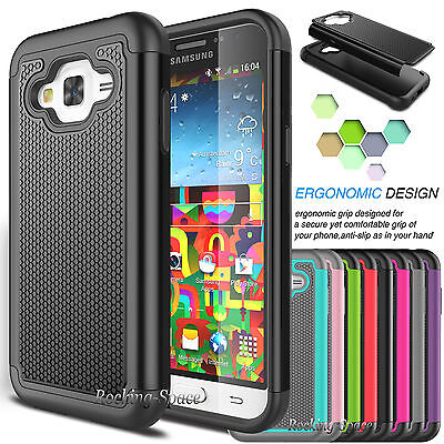 Hybrid Shockproof Rugged Silicone Hard Case Cover for Samsung Galaxy J7 2015