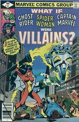 WHAT IF #17 F/VF, Captain Marvel, Ghost Rider, Spider-Woman, Marvel Comics 1979