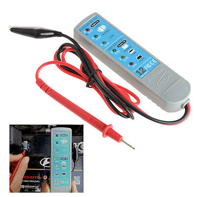 Durable DC12V Portable Car Vehicles Battery Alternator Tester With 6 LED Lights