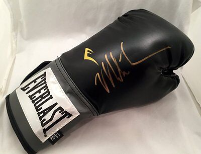 Mike Tyson Autographed Everlast Black Boxing Glove USA SM Auth #2309