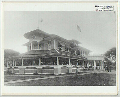 "Historic Haleiwa Hotel, Oahu  Hand Printed Silver Halide Photograph On 8X10"" Mat"