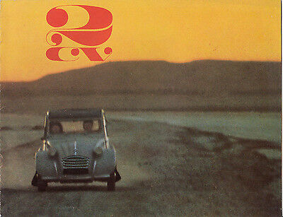 Citroen 2Cv Dated July 1965 Brochure.