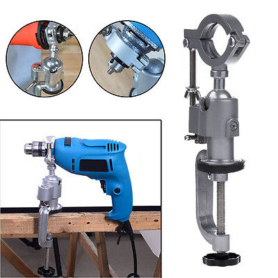 360º Mini Clamp-On Bench Vise Grinder Holder Drill Stand for Dremel Drill Rotary