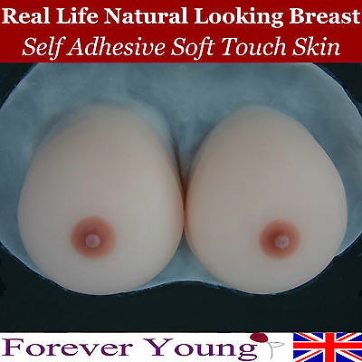 Stick On Self Adhesive Silicone Breast Form Mastectomy Natural Breast Enhancer