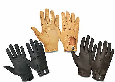 Motorbike Motorcycle Gloves Car Bus Driving Cycling Outdoor Genuine Leather