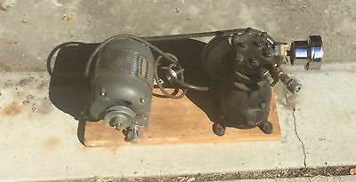 old mid century watch makers air compressor unit GE vintage motor and USA made