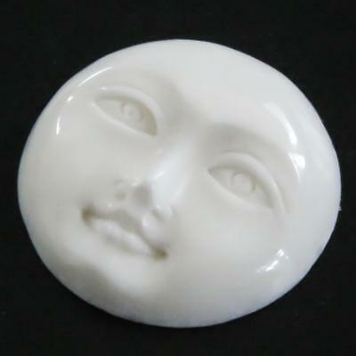 "13/16"" 21MM OPEN EYES MOON MOONFACE BISON BONE BEAD CAB cabochon"