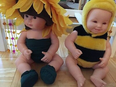 Anne Geddes Dolls Lot Flower, Bee, Full Size, As Is Vintage