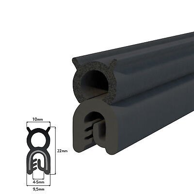 T32 CAR DOOR EDGE TRIM SEAL soft foam and hard rubber with metal gripping wires