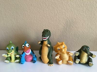 Vintage 1988 80's Land Before Time Spike Cera Sharptooth dinosaur puppets set 5