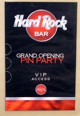 Hard Rock Cafe BRISTOL BAR 2004 Laminate Grand Opening PIN PARTY VIP Access HRC