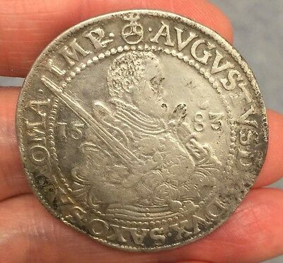 Germany, Saxony. August (1553-1586) Silver Thaler, Dated 1583.