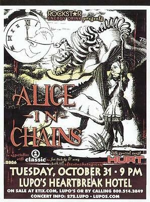 Alice In Chains Concert Flyer Poster Providence