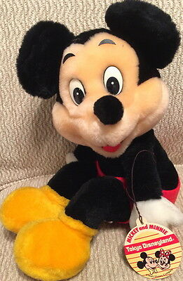DISNEY DL Tokyo Disneyland 1980s MICKEY MOUSE Vintage RARE PLUSH New with Tag!