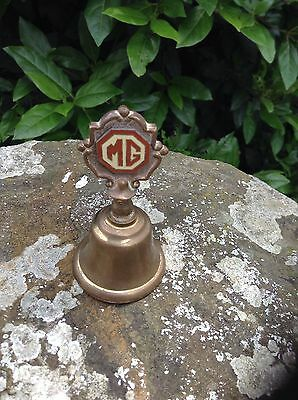 MG SHOWROOM ADVERTISING BRASS TEA BELL :1930s-1950s PERIOD : . RARE & SUPERB!