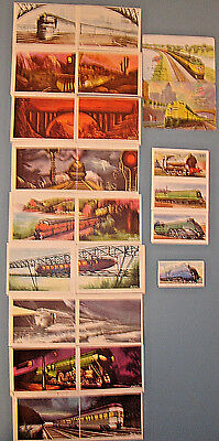 (24) Asst. TRAIN CIGARETTE CARDS/STICKERS/PLAYING CARDS, Spanish, Mexico (?)