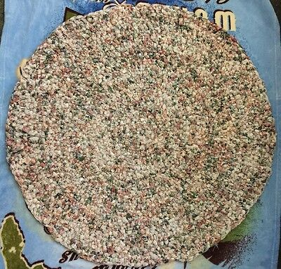 Handmade Multi Colored round Rag Rug 35 inches across