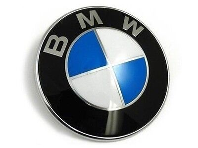 NEW Car Emblem Chrome Hood Badge Logo For BMW Rear Trunk 74mm 2 Pins