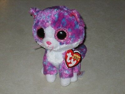 "ty BEANIE BOO BABIES CHARLOTTE KITTEN CAT 2016 CLAIRE'S 6"" MWMT SAME DAY SHIP"