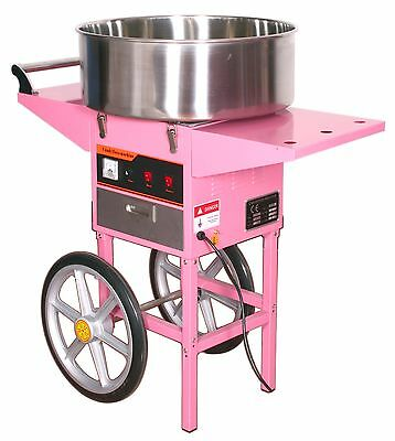Slightly USED Electric Commercial Cotton Candy Machine / Floss Maker Pink Cart