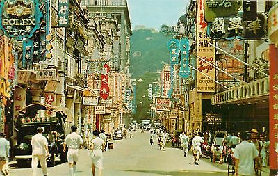 c1950s Queen's Road Central Hong Kong, China Postcard