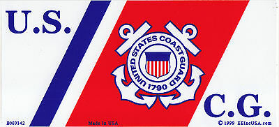 U.S.C.G. Logo Bumper Sticker/decal US USA United States Coast Guard