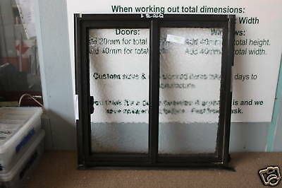 SLIDING Window Aluminum 600h x 610w BATHROOM GLASS 8 colours BRAND NEW PICK UP