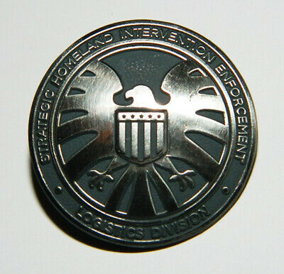 Marvel Agents of S.H.I.E.L.D. TV Series Eagle Logo Metal Lapel Pin, NEW UNUSED