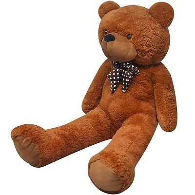 Giant Cute Brown Soft Plush Teddy Bear Huge Doll Toy Cotton 175cm Gift Present