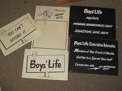 Boys' Life Exhibit Kit,  Poster Lot, 1950-60s     eb04