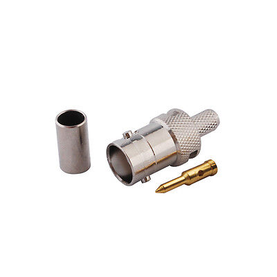 RP-BNC female (male pin) coax connector for LMR195 RG58 RG400 RG142 cable