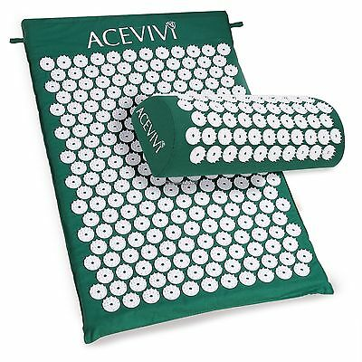 Acupressure Mat Relieve Stress Pain Acupuncture Spike Yoga Mat with Pillow C1MY
