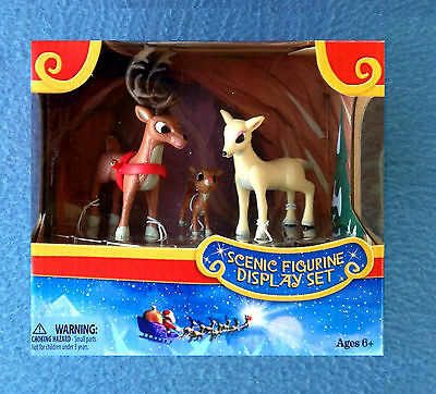 Rudolph's Family Cave Scenic Figurine Playset Rudolph The Red-Nosed Reindeer