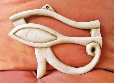 Unique Hand Carved Antique Wall Plaque of Ancient Eye of Horus