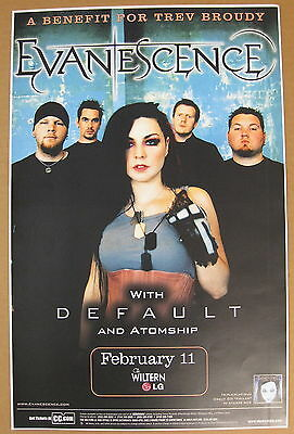 EVANESCENCE Wiltern Theatre LOS ANGELES 2004 Concert POSTER Minty! AMY LEE